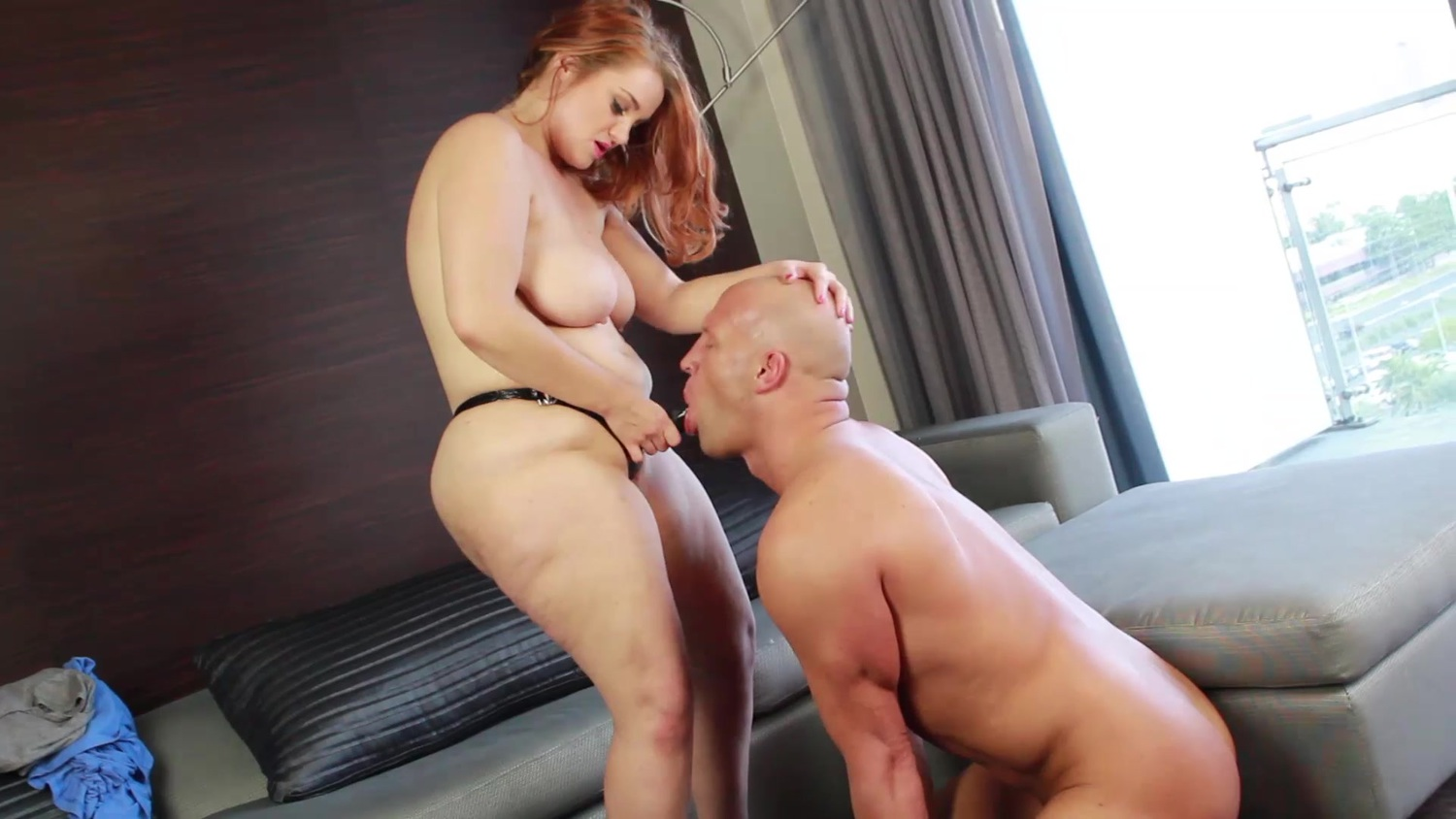 BBW Pegging Guy And Blows His Ass - Best Pegging