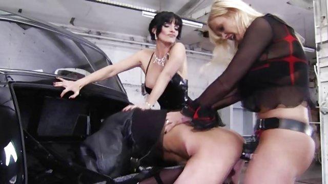 German Mistresses Torture with Huge Strapon