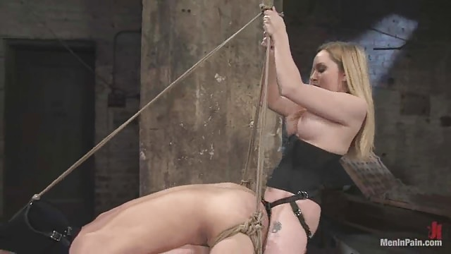 Domina Aiden Starr And Bondage Male Slave - Best Pegging-9730