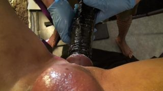 Lady Jane Lubricate, Fisting and Pegging Slave