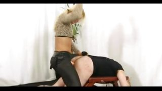 Hot Blonde Mistress Zita Pegging Dude Hard