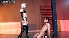 Chastity Femdom Strap-on Fuck
