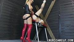 Norwegian Mistress Monica MILF Pegging her Man