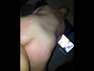 Horny Dude Rides Big Strapon
