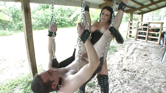 Pegging sex swing