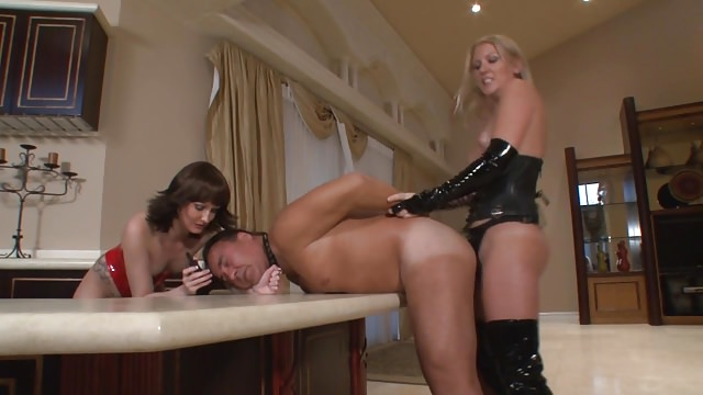 Two Mistresses Torute and Pegging their Slave